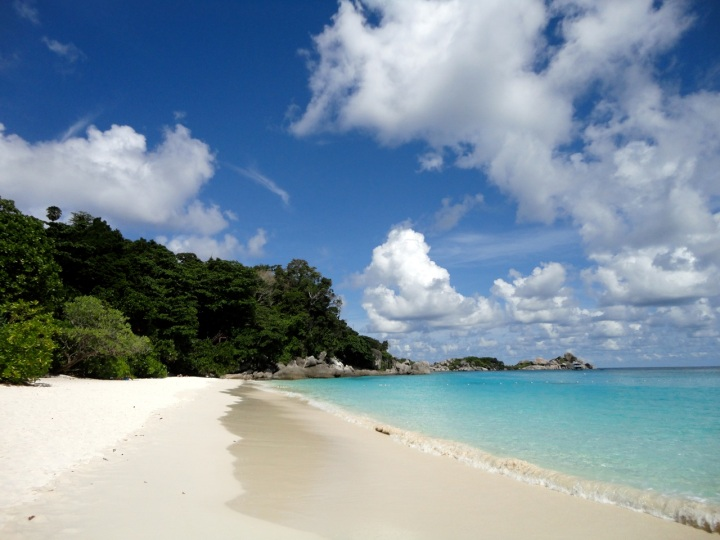 Similan island white sandy beach