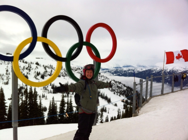 Whistler Blackcomb snow Olympic rings