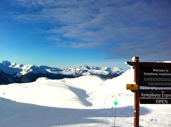 Whistler Blackcomb snow