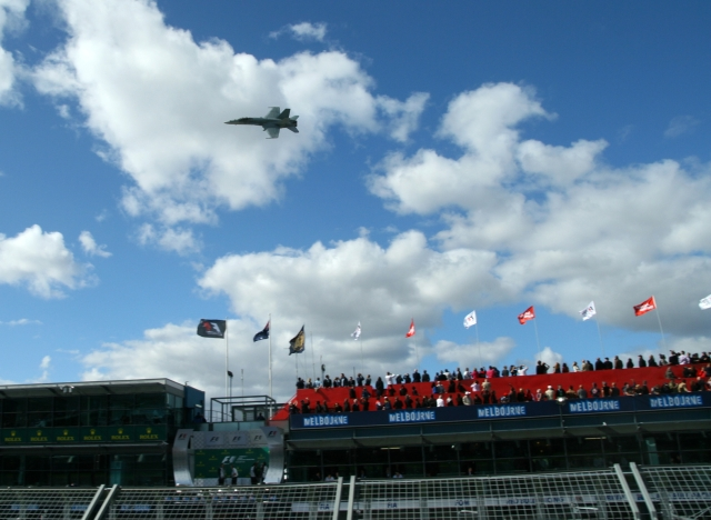 fa-18 super hornet australian f1 grand prix