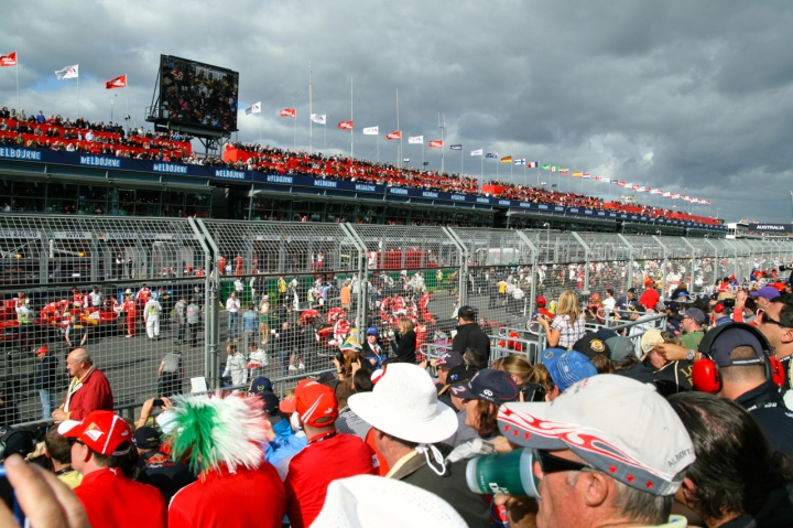 starting grid australian f1 grand prix