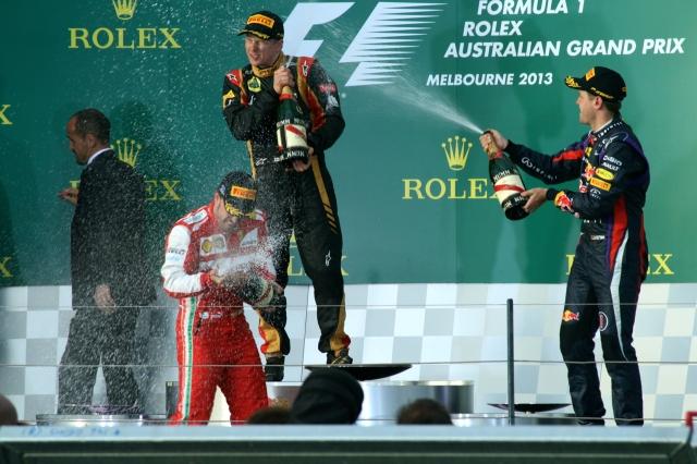 australian f1 grand prix podium