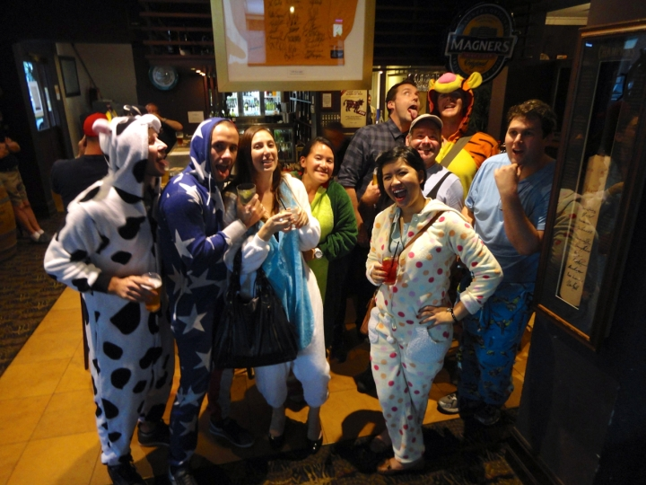 balmain onesie pub crawl