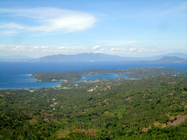 view from ponderosa golf club puerto galera