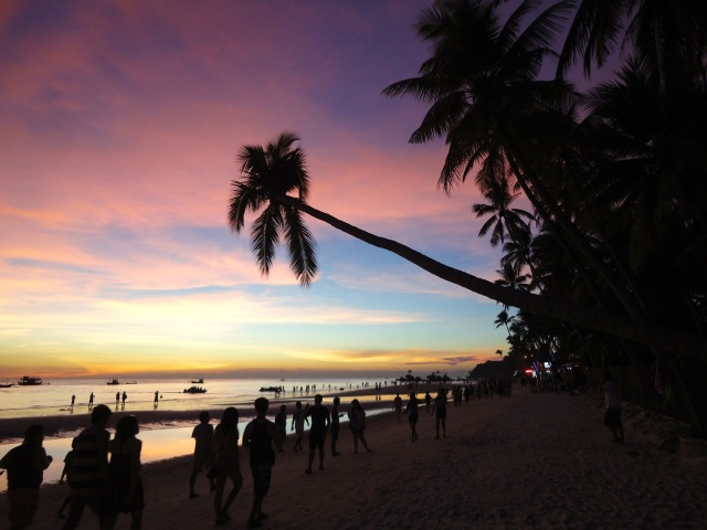 sunset boracay beach
