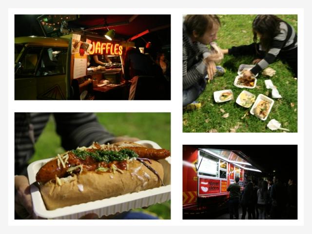 food trucks collage