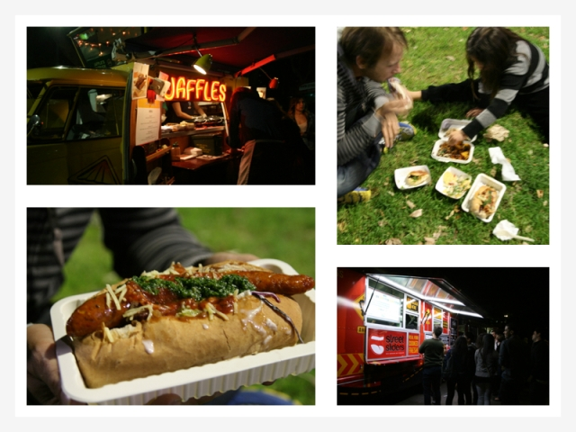 food trucks collage