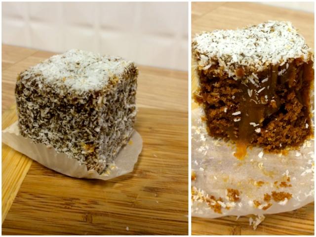 Adriano Zumbo Australia Day popup - salted caramel lamington