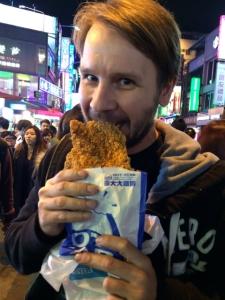 Sampling Taiwan's giant fried chicken