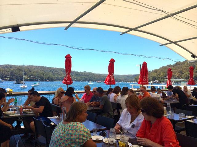 Church Point waterfront cafe