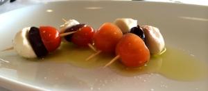 Bistro Molines - cherry tomato and mozzarella snack